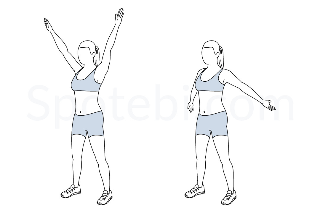 Big Arm Circles Illustrated Exercise Guide