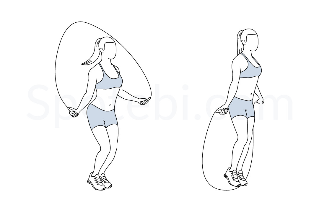 Jump Rope Illustrated Exercise Guide