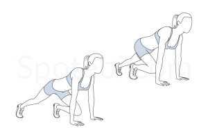 Mountain climbers exercise guide with instructions, demonstration, calories burned and muscles worked. Learn proper form, discover all health benefits and choose a workout. http://www.spotebi.com/exercise-guide/mountain-climbers/