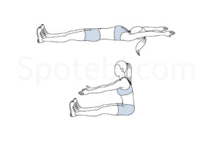 Roll up exercise guide with instructions, demonstration, calories burned and muscles worked. Learn proper form, discover all health benefits and choose a workout. http://www.spotebi.com/exercise-guide/roll-up/