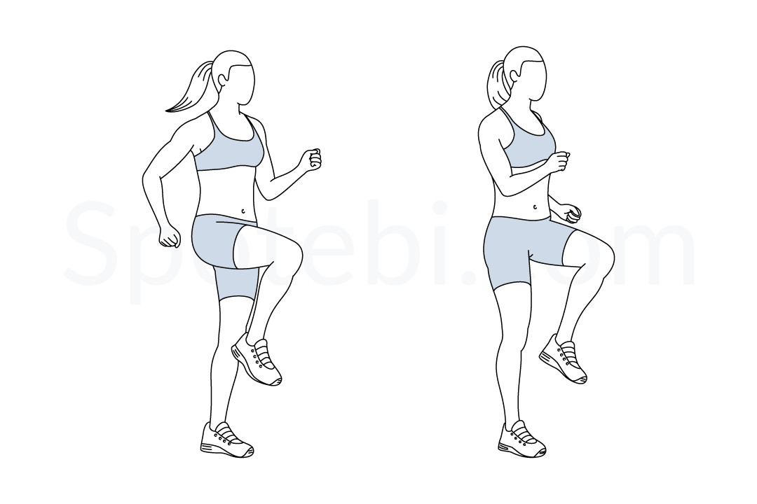 Run In Place | Illustrated Exercise Guide