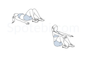 Sit up exercise guide with instructions, demonstration, calories burned and muscles worked. Learn proper form, discover all health benefits and choose a workout. http://www.spotebi.com/exercise-guide/sit-up/