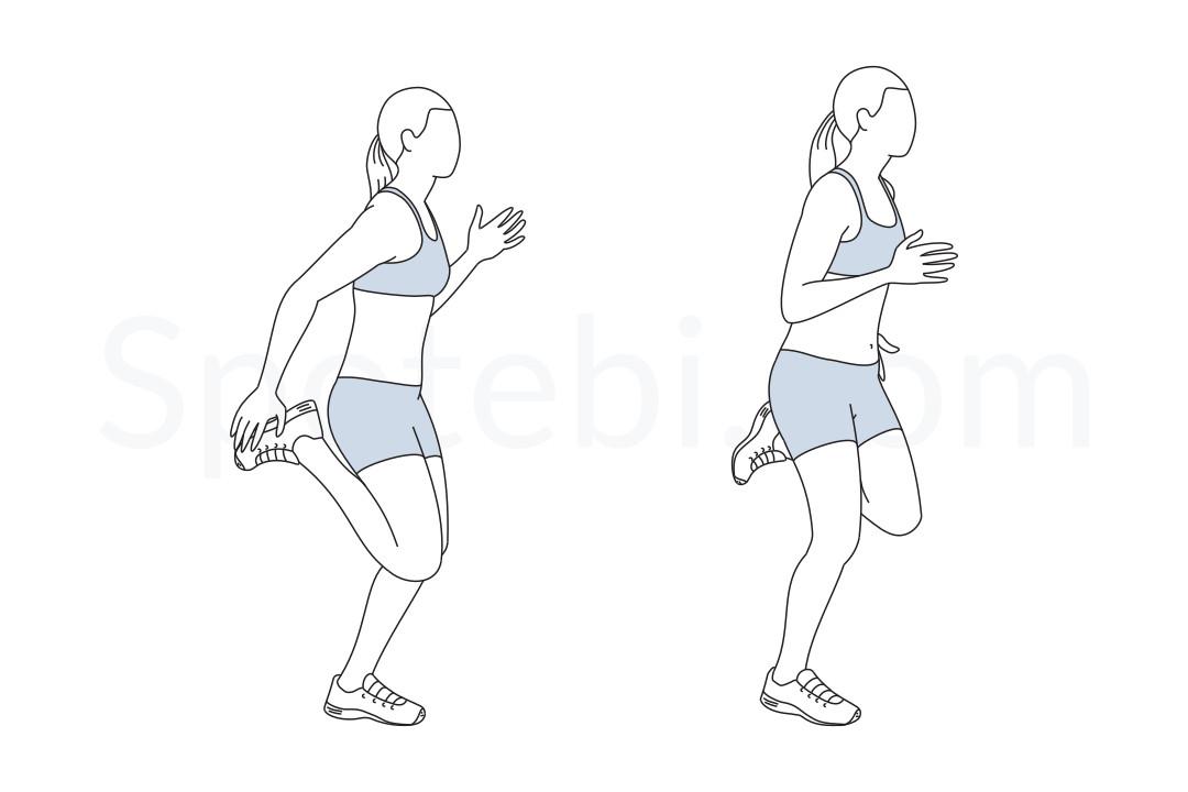 butt kicks illustrated exercise guide
