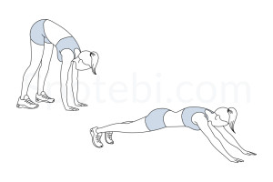 Inchworm exercise guide with instructions, demonstration, calories burned and muscles worked. Learn proper form, discover all health benefits and choose a workout. https://www.spotebi.com/exercise-guide/inchworm/