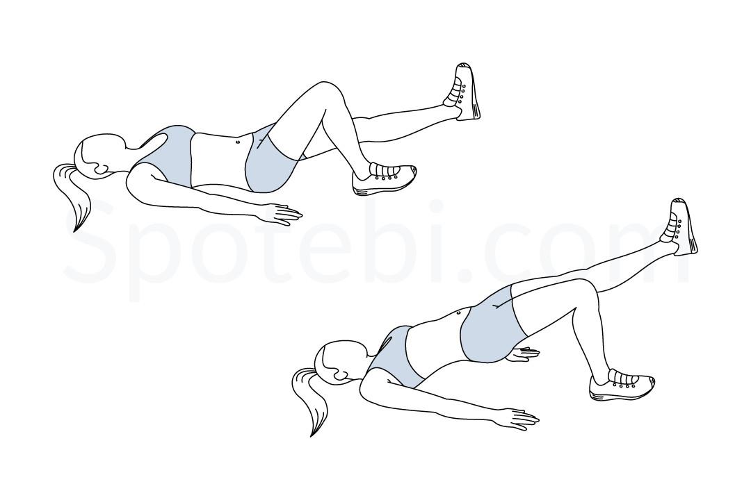 Single Leg Bridge | Illustrated Exercise Guide