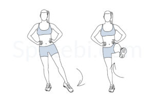 Standing leg circles exercise guide with instructions, demonstration, calories burned and muscles worked. Learn proper form, discover all health benefits and choose a workout. http://www.spotebi.com/exercise-guide/standing-leg-circles/