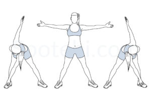 Bent over twist exercise guide with instructions, demonstration, calories burned and muscles worked. Learn proper form, discover all health benefits and choose a workout. http://www.spotebi.com/exercise-guide/bent-over-twist/