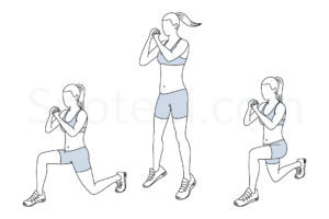 Jumping lunges exercise guide with instructions, demonstration, calories burned and muscles worked. Learn proper form, discover all health benefits and choose a workout. https://www.spotebi.com/exercise-guide/jumping-lunges/