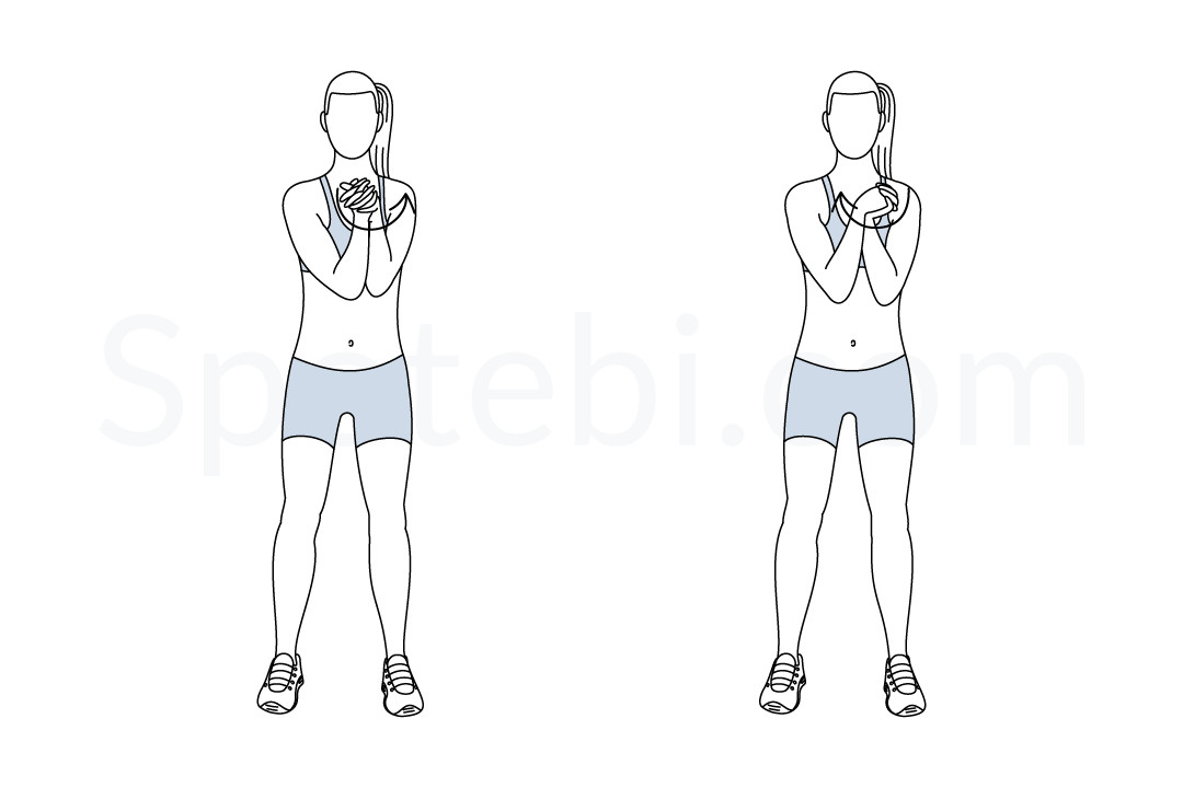 Wrist circles exercise guide with instructions, demonstration, calories burned and muscles worked. Learn proper form, discover all health benefits and choose a workout. https://www.spotebi.com/exercise-guide/wrist-circles/