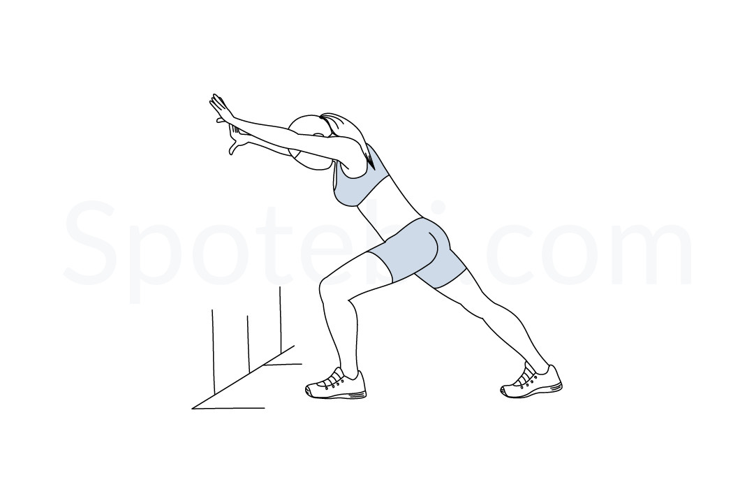 Calf stretch exercise guide with instructions, demonstration, calories burned and muscles worked. Learn proper form, discover all health benefits and choose a workout. https://www.spotebi.com/exercise-guide/calf-stretch/