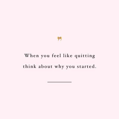 Don't quit! Browse our collection of inspirational fitness quotes and get instant exercise and workout motivation. Transform positive thoughts into positive actions and get fit, healthy and happy! http://www.spotebi.com/workout-motivation/fitness-quote-dont-quit/