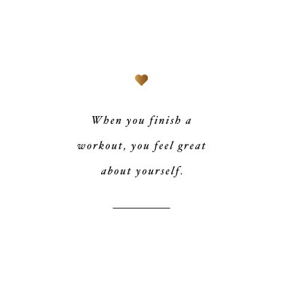 Feel great! Browse our collection of inspirational exercise quotes and get instant workout and fitness motivation. Transform positive thoughts into positive actions and get fit, healthy and happy! http://www.spotebi.com/workout-motivation/exercise-quote-feel-great/