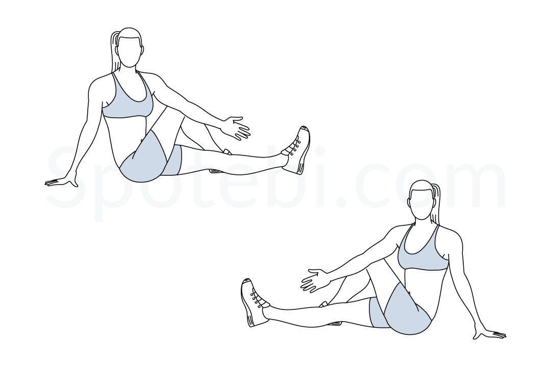 Lower back stretch exercise guide with instructions, demonstration, calories burned and muscles worked. Learn proper form, discover all health benefits and choose a workout. https://www.spotebi.com/exercise-guide/lower-back-stretch/
