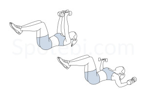 Chest fly exercise guide with instructions, demonstration, calories burned and muscles worked. Learn proper form, discover all health benefits and choose a workout. http://www.spotebi.com/exercise-guide/chest-fly/