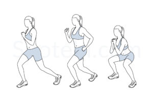 Flutter kick squats exercise guide with instructions, demonstration, calories burned and muscles worked. Learn proper form, discover all health benefits and choose a workout. https://www.spotebi.com/exercise-guide/flutter-kick-squats/