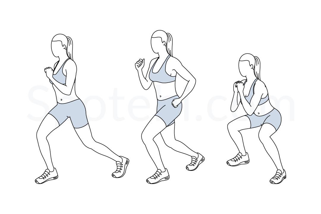 flutter kick squats