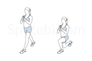 Split squat exercise guide with instructions, demonstration, calories burned and muscles worked. Learn proper form, discover all health benefits and choose a workout. https://www.spotebi.com/exercise-guide/split-squat/