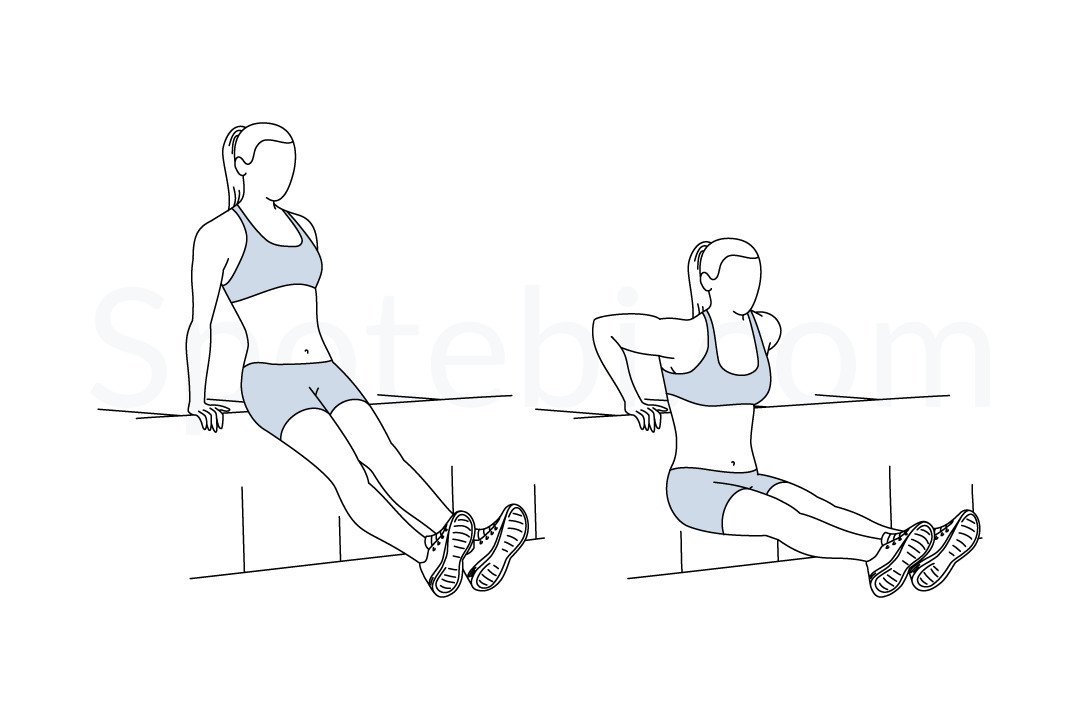 Tricep Dips | Illustrated Exercise Guide
