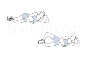 Clamshell exercise guide with instructions, demonstration, calories burned and muscles worked. Learn proper form, discover all health benefits and choose a workout. http://www.spotebi.com/exercise-guide/clamshell/