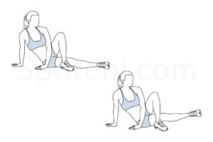 Inner thigh lifts exercise guide with instructions, demonstration, calories burned and muscles worked. Learn proper form, discover all health benefits and choose a workout. http://www.spotebi.com/exercise-guide/inner-thigh-lifts/