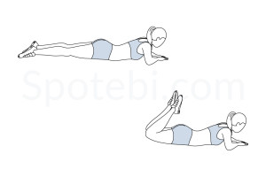 Lying hamstring curls exercise guide with instructions, demonstration, calories burned and muscles worked. Learn proper form, discover all health benefits and choose a workout. http://www.spotebi.com/exercise-guide/lying-hamstring-curls/