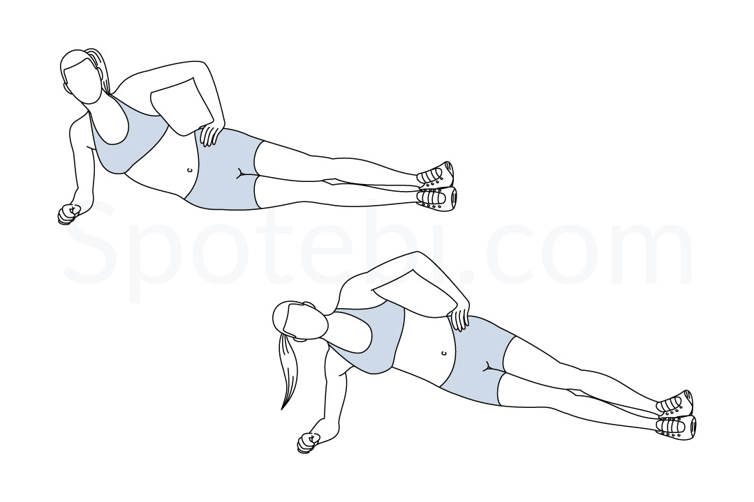 side plank hip lifts illustrated exercise guide inchworm clipart images Butterfly Clip Art