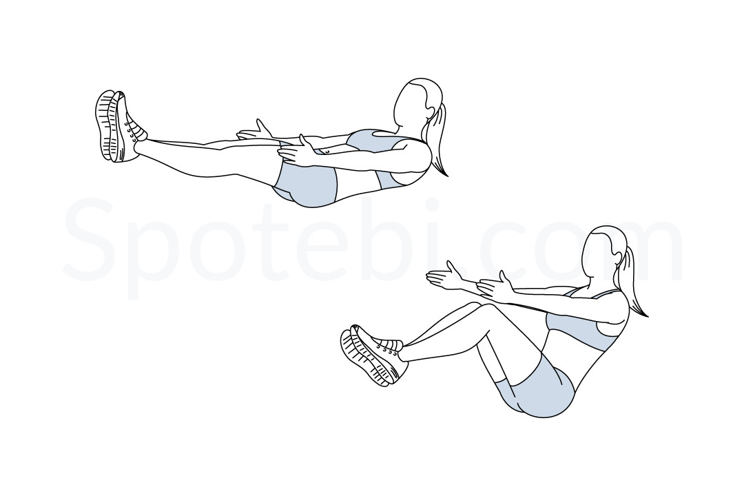 V Sits Exercise V Sit  Illustrated Exercise