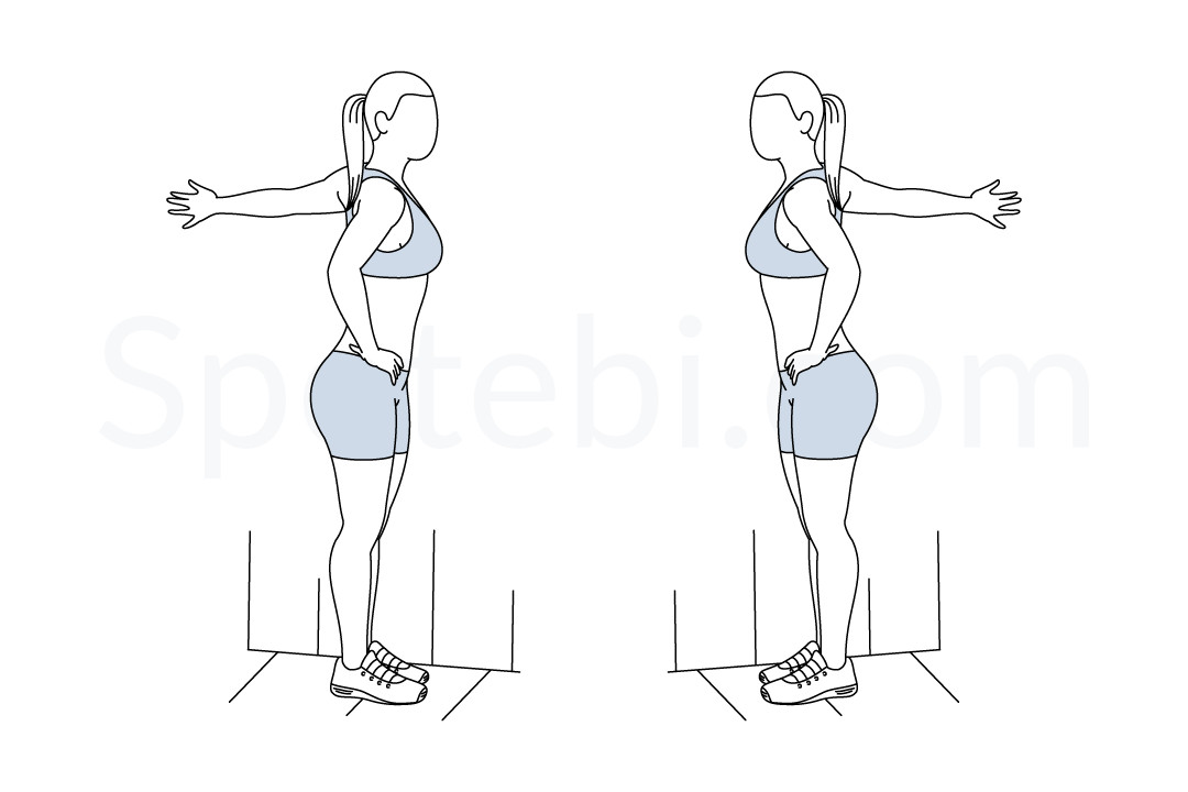 Chest stretch exercise guide with instructions, demonstration, calories burned and muscles worked. Learn proper form, discover all health benefits and choose a workout. https://www.spotebi.com/exercise-guide/chest-stretch/