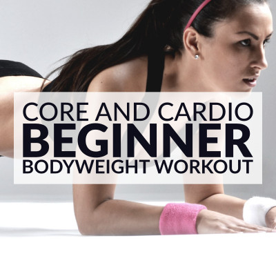Boost your metabolism, trim your midsection and improve your fitness level with this core and cardio beginner bodyweight workout. 10 different exercises to target your core and burn body fat. https://www.spotebi.com/workout-routines/core-cardio-beginner-bodyweight-workout/