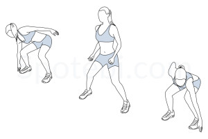 Side shuffle exercise guide with instructions, demonstration, calories burned and muscles worked. Learn proper form, discover all health benefits and choose a workout. http://www.spotebi.com/exercise-guide/side-shuffle/