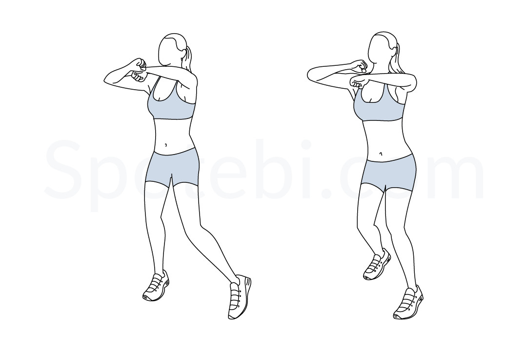 Speed bag punches exercise guide with instructions, demonstration, calories burned and muscles worked. Learn proper form, discover all health benefits and choose a workout. https://www.spotebi.com/exercise-guide/speed-bag-punches/