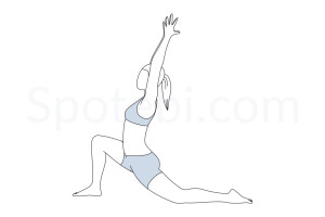 Low lunge pose (Anjaneyasana) instructions, illustration and mindfulness practice. Learn about preparatory, complementary and follow-up poses, and discover all health benefits. https://www.spotebi.com/exercise-guide/anjaneyasana/