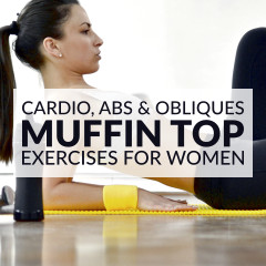 Muffin Top Exercises | Cardio, Abs & Obliques Workout / @spotebi