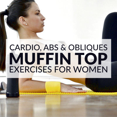 Get rid of your muffin top with this cardio, abs and obliques workout. 10 moves to help you burn fat, strengthen your abs and sculpt your obliques. Combine these muffin top exercises with a clean diet and weekly cardio, and you'll tighten up your tummy in no time! https://www.spotebi.com/workout-routines/muffin-top-exercises-cardio-abs-obliques-workout/
