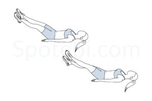 Scissor kicks exercise guide with instructions, demonstration, calories burned and muscles worked. Learn proper form, discover all health benefits and choose a workout. http://www.spotebi.com/exercise-guide/scissor-kicks/
