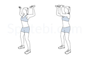 Standing chest fly exercise guide with instructions, demonstration, calories burned and muscles worked. Learn proper form, discover all health benefits and choose a workout. https://www.spotebi.com/exercise-guide/standing-chest-fly/