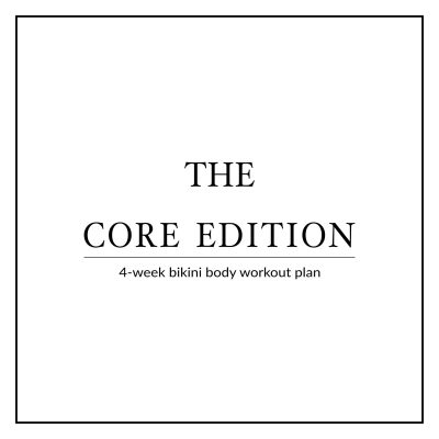 Welcome to the Bikini Body Workout Plan! A 4-month challenge that will sculpt your body from head to toe, blast calories and get you in shape, and ready for Summer! We're starting off this challenge with a 4-week Core Edition to work your sexy midline, tone up your tummy and strengthen your core! http://www.spotebi.com/workout-plans/4-week-bikini-body-core-edition/