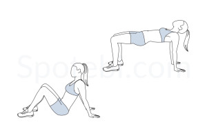 Advanced bridge exercise guide with instructions, demonstration, calories burned and muscles worked. Learn proper form, discover all health benefits and choose a workout. https://www.spotebi.com/exercise-guide/advanced-bridge/