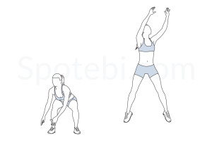 Basketball shots exercise guide with instructions, demonstration, calories burned and muscles worked. Learn proper form, discover all health benefits and choose a workout. http://www.spotebi.com/exercise-guide/basketball-shots/