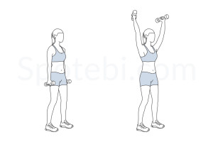 Standing Y raise exercise guide with instructions, demonstration, calories burned and muscles worked. Learn proper form, discover all health benefits and choose a workout. http://www.spotebi.com/exercise-guide/standing-y-raise/