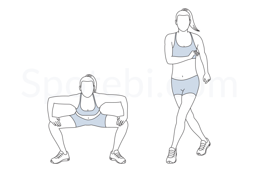 Gate swings exercise guide with instructions, demonstration, calories burned and muscles worked. Learn proper form, discover all health benefits and choose a workout. https://www.spotebi.com/exercise-guide/gate-swings/