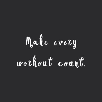 Make every workout count! Browse our collection of motivational exercise quotes and get instant weight loss and training inspiration. Transform positive thoughts into positive actions and get fit, healthy and happy! http://www.spotebi.com/workout-motivation/make-every-workout-count-training-inspiration-quote/