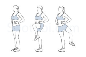 Standing open the gate exercise guide with instructions, demonstration, calories burned and muscles worked. Learn proper form, discover all health benefits and choose a workout. https://www.spotebi.com/exercise-guide/standing-open-the-gate/