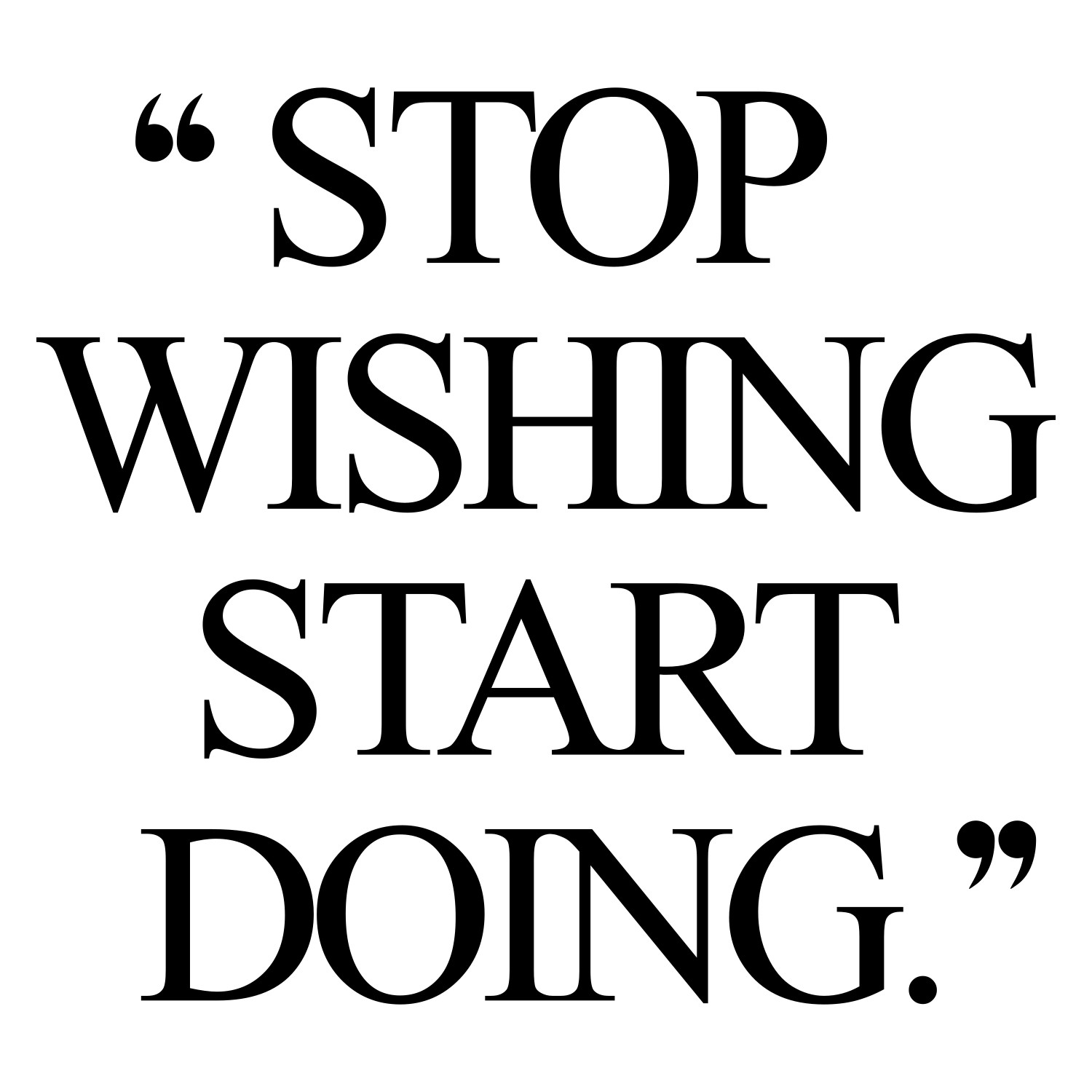 Stop wishing start doing! Browse our collection of inspirational weight loss quotes and get instant exercise and training motivation. Transform positive thoughts into positive actions and get fit, healthy and happy! https://www.spotebi.com/workout-motivation/stop-wishing-start-doing-inspirational-weight-loss-quote/