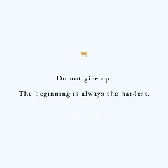 The Beginning Is The Hardest Inspirational Training Quote / @spotebi