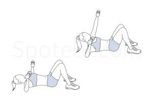 Chest press punch up exercise guide with instructions, demonstration, calories burned and muscles worked. Learn proper form, discover all health benefits and choose a workout. http://www.spotebi.com/exercise-guide/chest-press-punch-up/