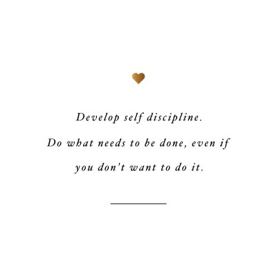 Develop Self Discipline Health And Fitness Inspirational Quote / @spotebi