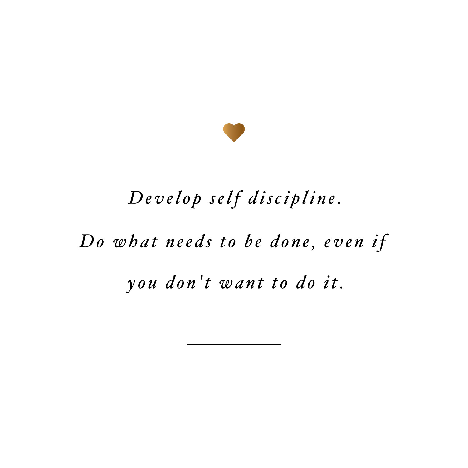 Develop self discipline! Browse our collection of health and fitness inspirational quotes and get instant training motivation. Transform positive thoughts into positive actions and get fit, healthy and happy! https://www.spotebi.com/workout-motivation/develop-self-discipline-health-and-fitness-inspirational-quote/
