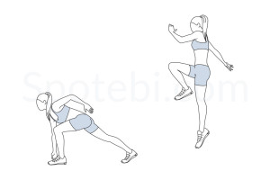 Jump start exercise guide with instructions, demonstration, calories burned and muscles worked. Learn proper form, discover all health benefits and choose a workout. http://www.spotebi.com/exercise-guide/jump-start/