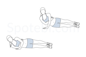 One arm tricep push up exercise guide with instructions, demonstration, calories burned and muscles worked. Learn proper form, discover all health benefits and choose a workout. http://www.spotebi.com/exercise-guide/one-arm-tricep-push-up/